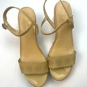 Kate Spade Nude Platform Sandals Size 11